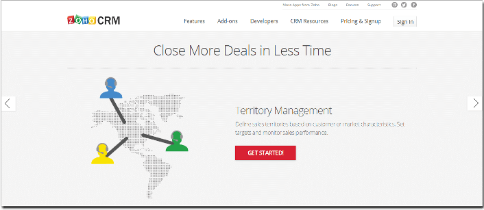 free CRM Software ZOHO