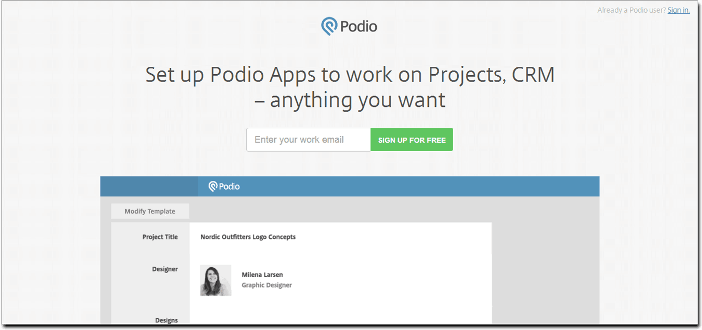 Project Management Software PODIO