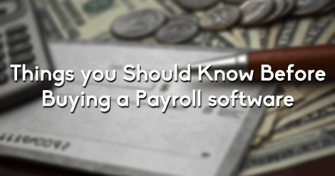 Buying the Payroll Software