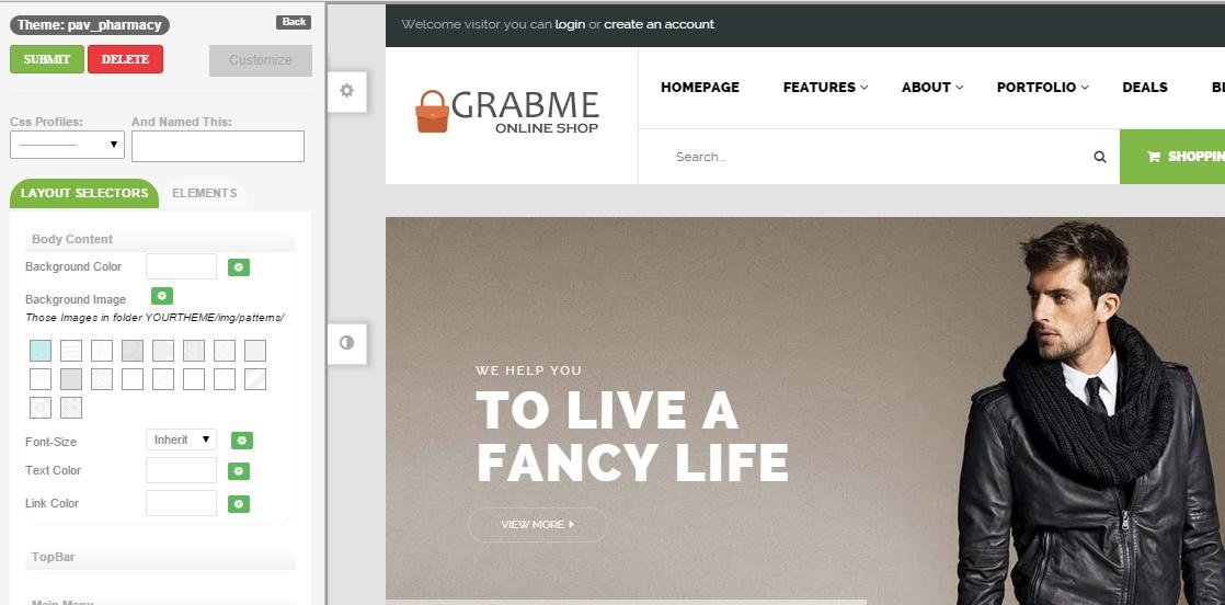 Themes editor shop2grab review3