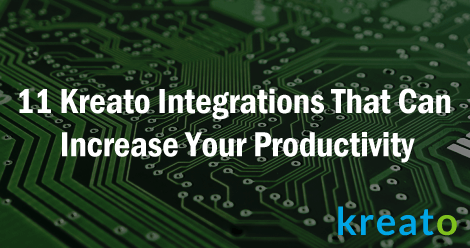 Kreato Integrations to increase your productivity -SS