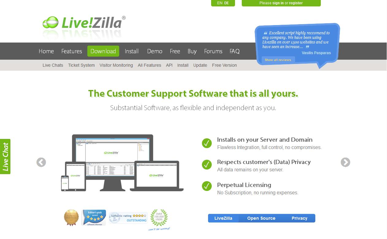 Live Zilla screenshot