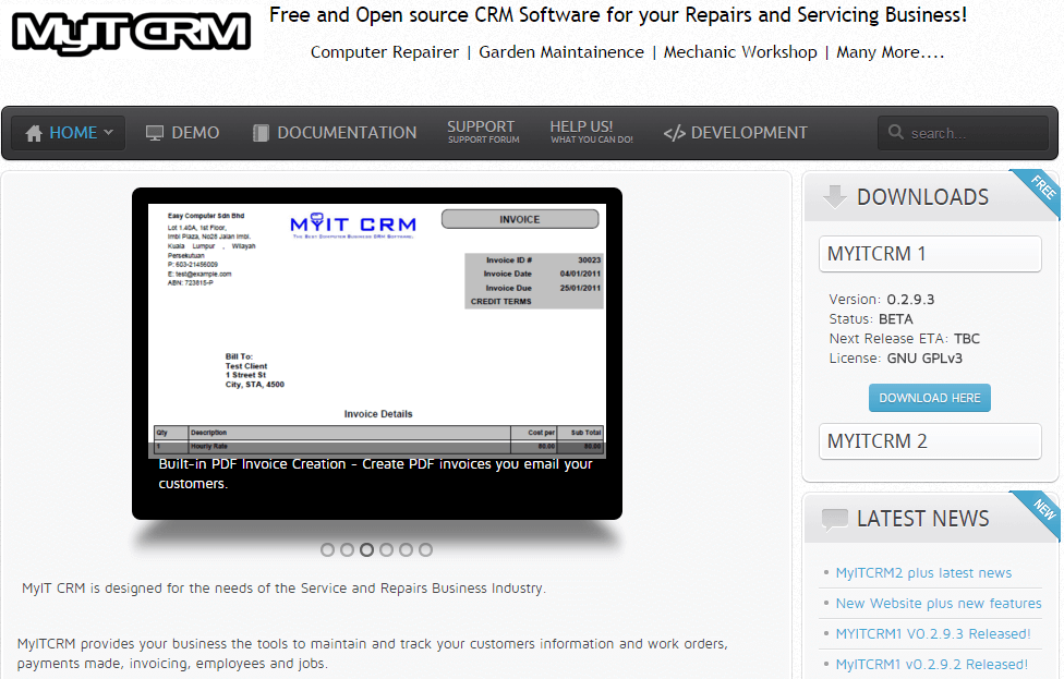 MyITCRM-Screenshot