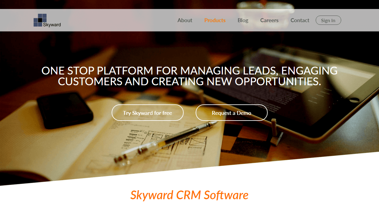 SkywardCRM-Screenshot