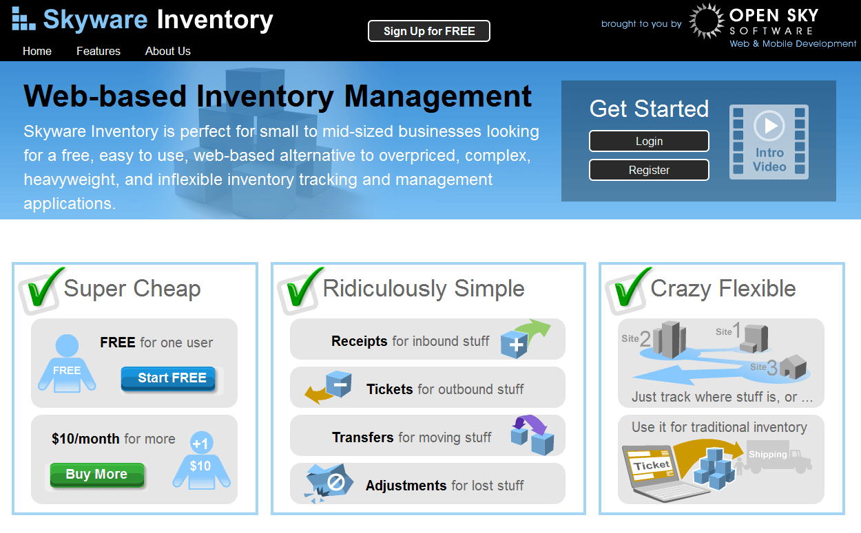 skyware inventory