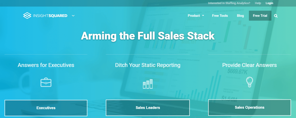 InsightSquared- top 10 sales tools
