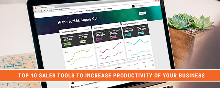 Top 10 Sales Tools to Increase Productivity of your Business featured