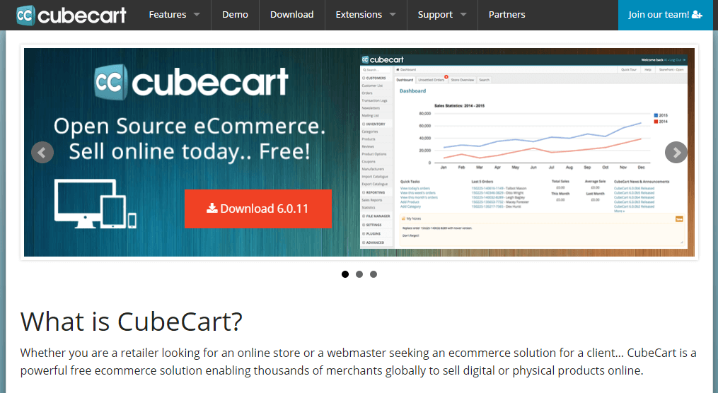 open source eCommerce Platform software - CubeCart