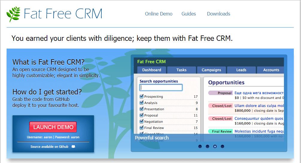 Fat Free CRM