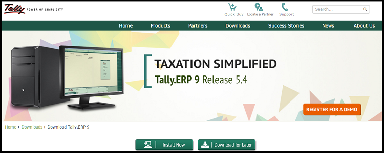 5.Tally- top ten ERP software