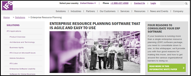6.ifs- top ten erp software