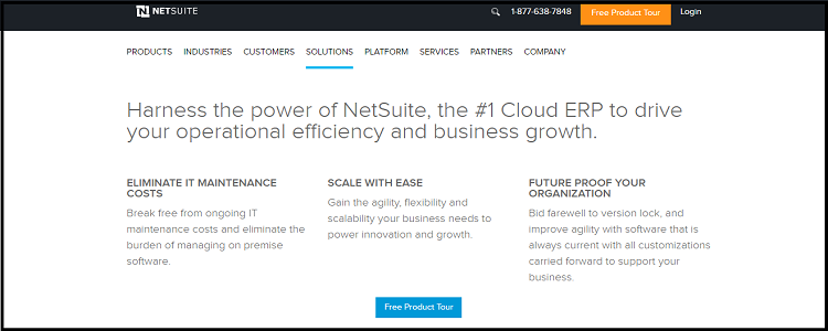 8.netsuit- top ten erp software