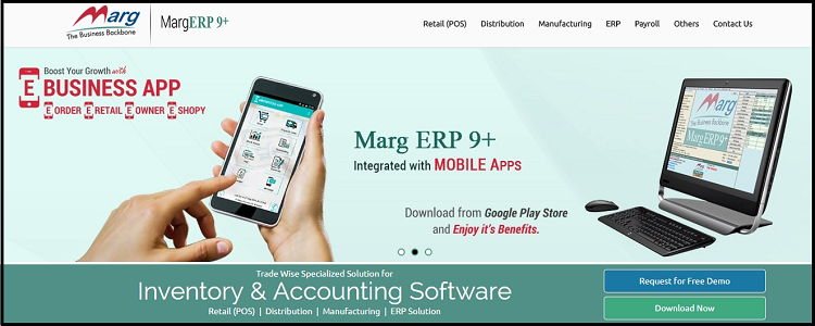 9.Marg- top ten erp software