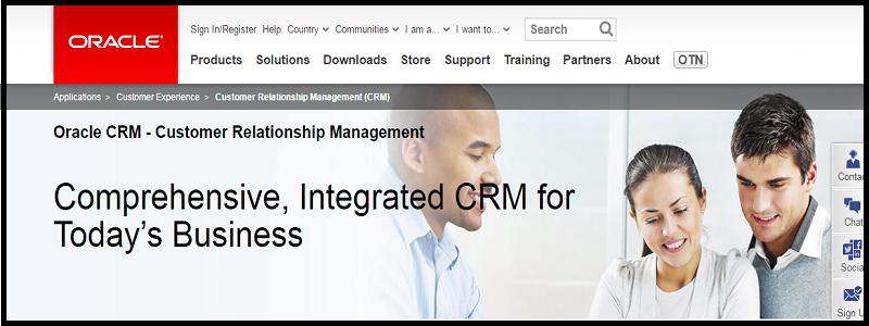 2.oracle crm; top ten crm software