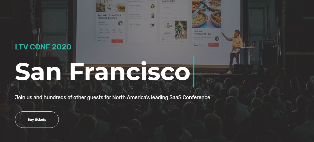 LTV Conf 2020 San Francisco - The Best SaaS Conference