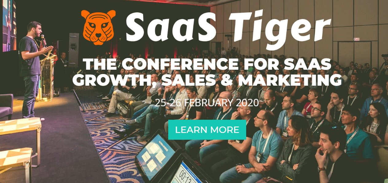 SaaS Tiger - The Conference for Growth Sales Marketing