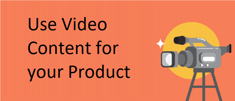 video content for product